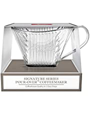 Melitta Mel TR CL Signature Series 1-Cup Pour-Over Coffee Maker, Clear