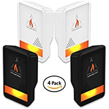 Campfire Stuff NEW 4-Pack Ultrasonic Pest Repeller - Electronic & Ultrasound, Indoor Plug-In Repellent   Anti Mice, Insects, Bugs, Ants, Mosquitos, Rats, Spiders, Roaches, Rodents - Child & Pet Safe
