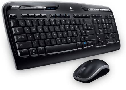 Logitech MK330 Combo Teclado y Ratón Inalámbrico parta Windows, Disposición QWERTY Griego, Negro