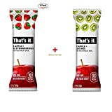 Cheap That's it. Apple + Strawberry 100% Natural Real Fruit Bar, Best High Fiber Vegan, Gluten Free Healthy Snack, Paleo for Children & Adults, Non GMO Sugar-Free, No Preservatives Energy Food (5 Pack)