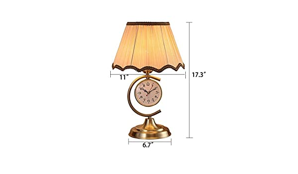 Amazon.com: ChuanHan Ceiling Fan Light Chandelier Lightings Table Lamp Modern Contemporary Led Clock Table Iron Process Metal Living Room Bedside Decoration ...