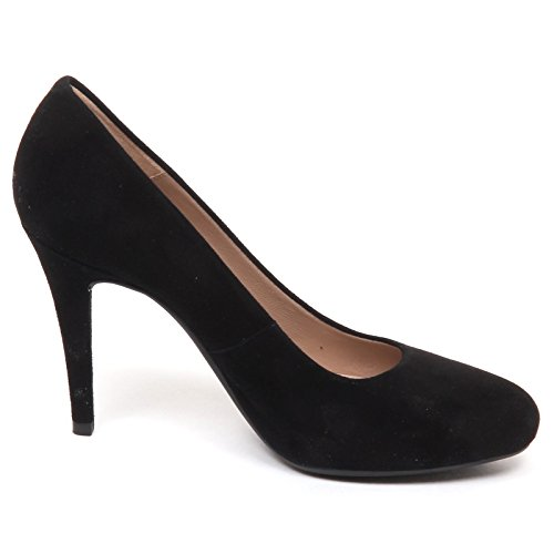 Black Scarpe Nero UNISA Suede Donna SILES Decollete E6470 Shoe Woman qwwp1gU