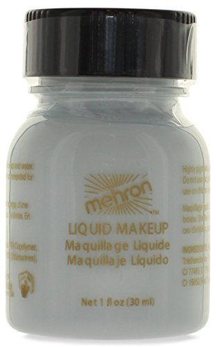 Mehron Makeup Liquid Face & Body Paint, MOONLIGHT WHITE - 1o