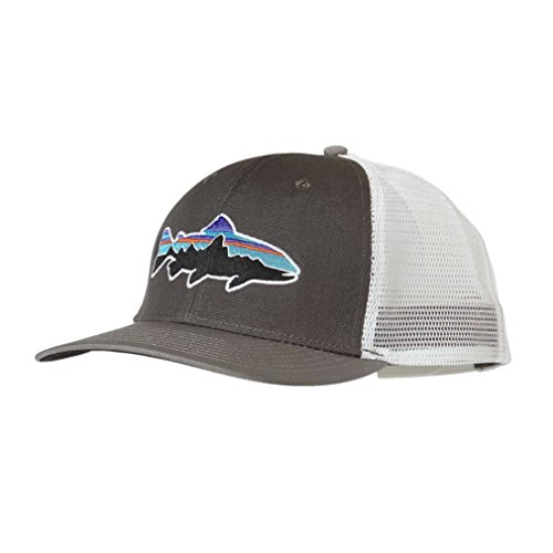 b5e70079df Patagonia Mens Fitz Roy Trout Trucker Hat (Forge Grey Feather ...