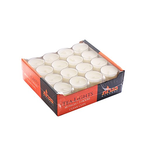 Blue Sky 2047 Clear Cup Tea Light in A Box (48Count) Clear Cup Tea Light in A (Candle Holders Cheap)