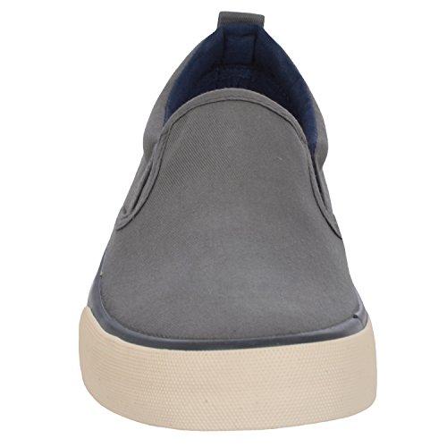 White Stuff Lucky Sole - Herren Slipper IM Skater-Stil - Canvas - Grau Grau