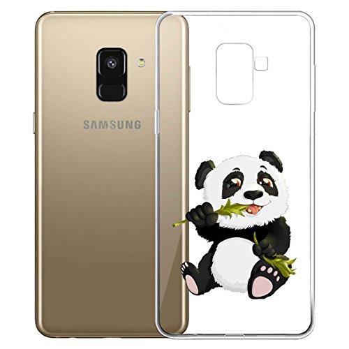 Funda para Samsung Galaxy A8 2018 (SM-A530) , IJIA Transparente Love Pony TPU Silicona Suave Cover Tapa Caso Parachoques Carcasa Cubierta para Samsung Galaxy A8 2018 (5.6) WM122