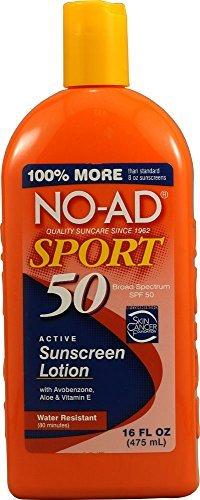 No-Ad 00220 Sport Lotion écran solaire, de 16 onces