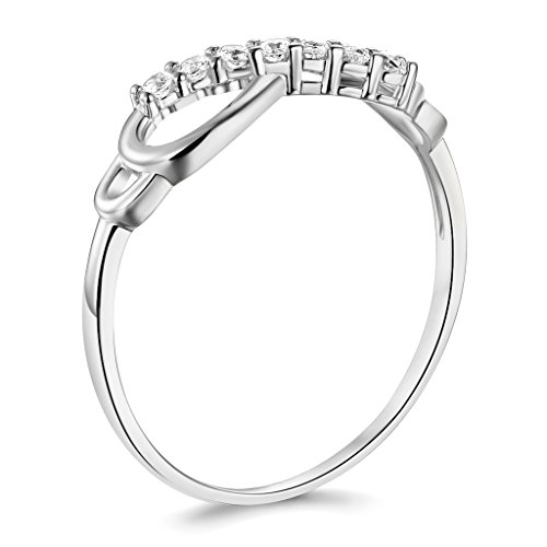 14k White Gold SOLID Infinity Ring - Size 6 by TWJC Wedding Collection (Image #1)