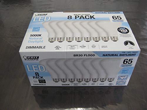 Feit Electric 65 Watt LED Br30 Flood 8 Pk