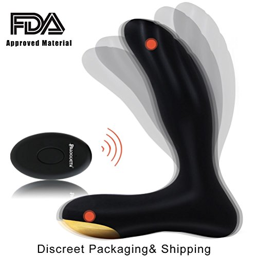 PALOQUETH Male Vibrating Prostate Massager Sex Toys with 2 Powerful Motors 10 Stimulation Patterns for Wireless Remote Control Anal Pleasure Waterproof