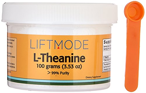 L-Theanine - 100 Grams (500 Servings at 200 mg) | #1 Value for Money #Top Nootropic Supplement | For Anxiety, Focus, Stress Relief, Weight Loss, Pre Workout - FBA