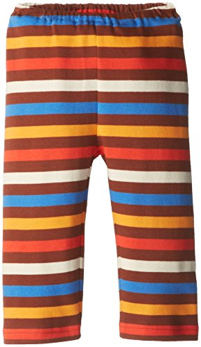 Zutano Baby-Boys Newborn 5 Color Stripe Pant, Chocolate/Periwinkle, 3 Months
