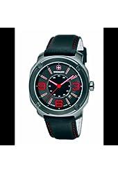 Wenger Escort Black Dial Stainless Steel Leather Quartz Men's Watch 01.1051.107
