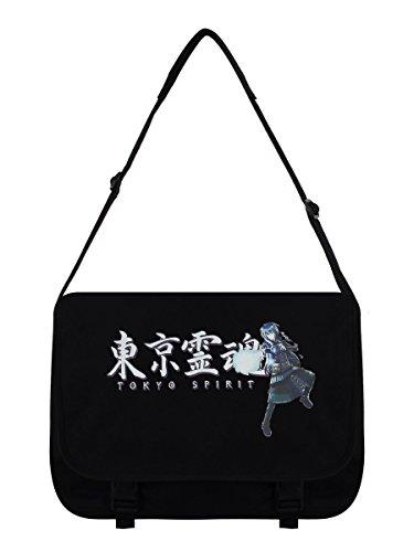 Borsa da postino Tokyo Spirit Kurai nera 38 x 33 x 11 cm