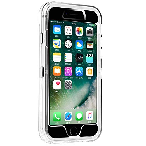smartelf Case for iPhone 7 Plus/8 Plus Heavy Duty Shockproof Protective Cover Hard Shell for Apple iPhone 7+/8+ 5.5 inch-Clear