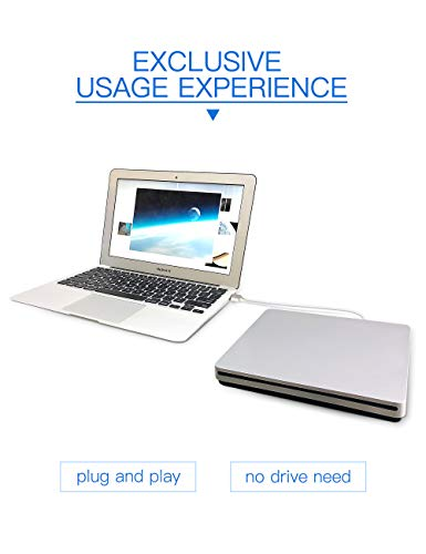 External CD DVD Drive, Haiway Portable Slot-in CD/DVD Re-Writer Burner Super Drive High Speed Data Transfer for Laptop Desktop PC Win 7/8/10 Linux OS Apple Mac(Type-C) by Haiway88 (Image #5)