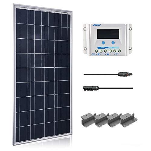 - ACOPOWER 100 Watt 12 Volt Polycrystalline Solar Panel Kit 30A PWM LCD Display Charge Controller, 100W+PWM 30A, 100W+PWM 30A