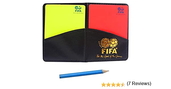 Accuni Deporte fútbol fútbol árbitro Cartera portatil con Tarjeta roja y la Tarjeta Amarilla