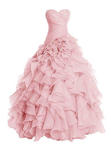 Anlin Mariage Chérie Longue Robe De Bal Robe Robe De Mariée En Organza De Balle An186 Blush