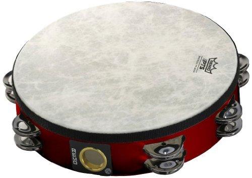 Remo Fiberskyn Tambourine - Quadura Deep Red, 8''