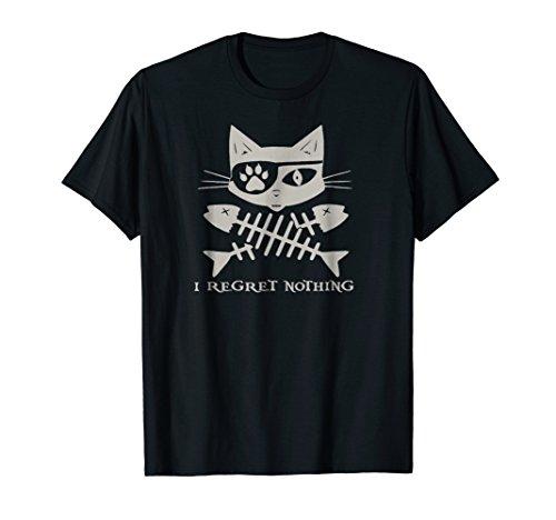Jolly Roger Skull & Crossbones Pirate Cat T Shirt