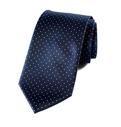 Spring Notion Men's Woven Dotted Necktie Navy