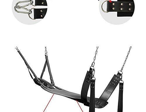 NTZV Shirt Best Top Quality Two Layers Leather Sling Sex Hammock Sex Swing Chair Leather Bed Hammock and Pillow Sex-Toys for Couple Bondage