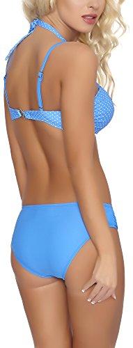 Aquarilla Bikini Conjunto Push Up para Mujer Limassol Azul Claro