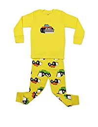 "Elowel Little Boy Yellow ""Truck"" 2 Piece Pajama Set 100% Cotton (6M-8 Years)"
