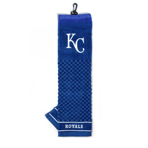 Team Golf MLB Kansas City Royals Embroidered Golf Towel, Checkered Scrubber Design, Embroidered Logo