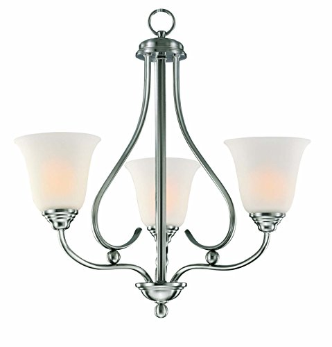 Sophia 3 Light Chandelier – Brushed Nickel