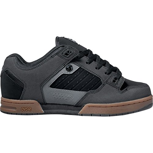 DVS Militia Black Leather Nubuck negro