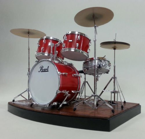 SSGSSK - Miniature Model Kit Crystal DRUM Set Pearl Single - Set Miniature Drum