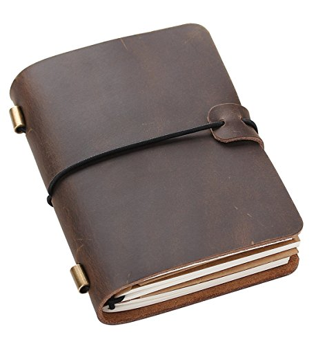 Refillable Leather Journal Notebook, Vintage Travelers Notebook Passport Size 5.2