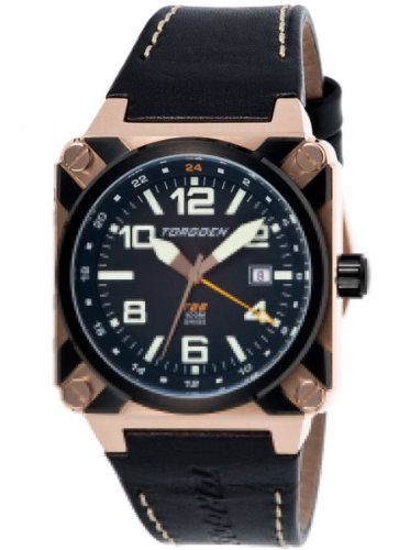 Torgoen Swiss Men's T26105 T26 GMT Rose-Tone Aviation Watch
