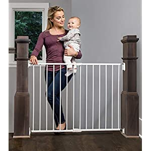 Regalo Extra Wide 2-in-1 Stairway and Hallway Safety Gate with Mounting Kit 26