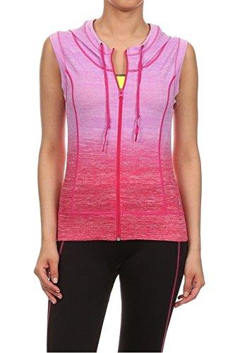 Womens Activewear Sleeveless Zip Up Hoodie product image
