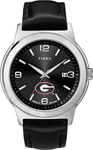 - Timex Men's Georgia Bulldogs UGA Watch Black Leather Band Ace