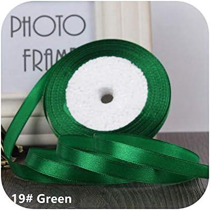 kawayi-桃 25ヤード/ロールグログランサテンリボン結婚式のクリスマスパーティーの装飾6mm-40mm DIY弓クラフトリボンカードギフト-Green-40mm