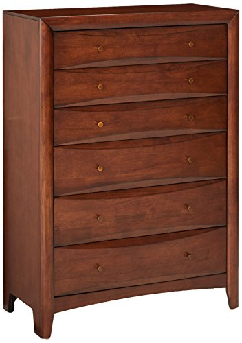 Hillary 6-Drawer Chest Warm Brown