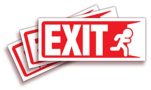 Exit Signs Stickers