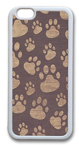 - iPhone 6 Cases, Paw Prints Durable Case Cover for Apple iPhone 6 4.7INCH Screen TPU White