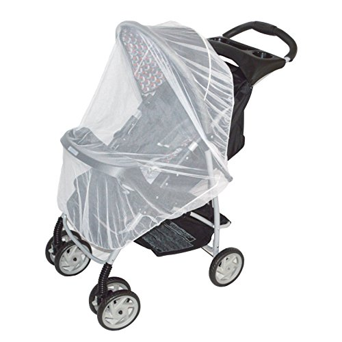 White Mosquito Net for baby Strollers, Carriers, Car Seats, Cradles, Pack'n'Plays, Cribs, Bassinets & Playpens. 44 x 48 Inch, High Density Baby Insect Netting (white)