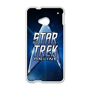 Pattern Hard Case Cover HTC One M7 Cell Phone Case White Star Trek Cuutb Back Skin Case Shell