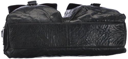 Sansibar Zonda B-175 ZD 01, Unisex-Erwachsene Messengertaschen 40x32x14 cm (B x H x T) Schwarz (Black)