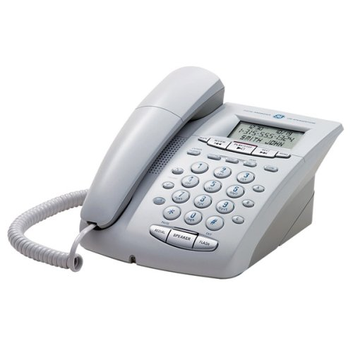 GE Corded 29897GE1 Phone with Speakerphone, Call Waiting Caller ID and Digital Answering System - White