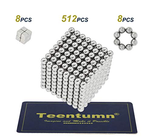 Teentumn 528 Pieces 5mm Sculpture Building Blocks Toys for Intelligence Learning -Office Toy & Stress Relief for Adults