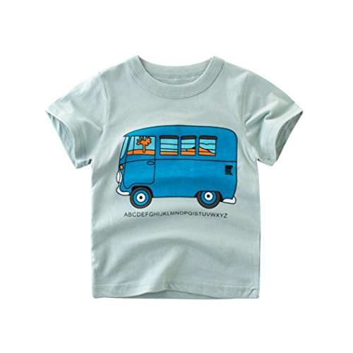 Hatoys Summer Infant Baby Kids Boys Girls T Shirts Tops Outfits Clothes (24M, Mint Green)