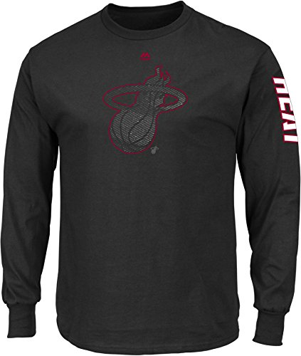 NBA Miami Heat Men's Easy Choice Long Sleeve Basic Tee, XX-Large, Black -